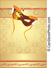 Masquerade mask. Festive background - Masquerade mask on the...