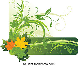 Maple leaves. Abstract background - Colorful maple leaves on...