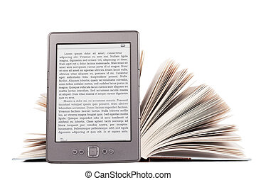 E-reader - Electronic book reader with LOREM IPSUM text and...