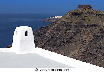 Santorini island in Greece - Santorini island in the aegean...
