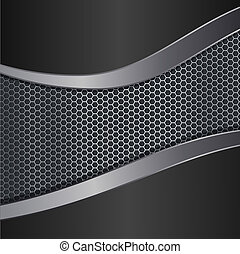 metallic background editable realistic vector