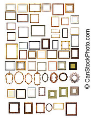 imagen, oro, marcos, decorativo, patrón