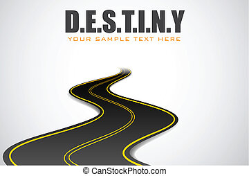 Road in Destiny Background - illustration of road in...