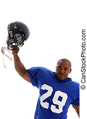Football Player shot on a white background