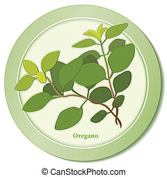 Italian Oregano Herb Icon - Oregano herb icon, flavorful...