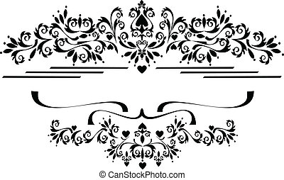 Decorative ornament border , frame.