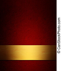elegant red and gold Christmas background with vintage...