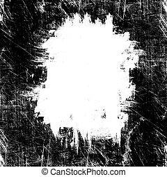 grunge white spot on black