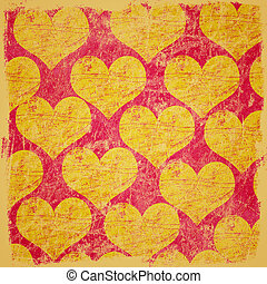 grunge scratched hearts background