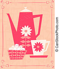 Retro Coffee Card