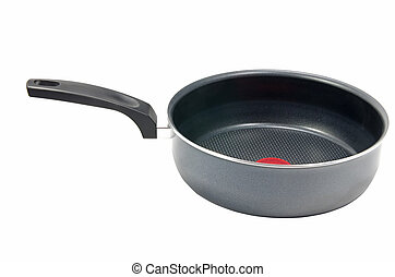 Pan with teflon coat on a white background