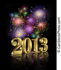 2013 fireworks for New Years eve party invitation or...