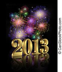 2013, fajerwerki, nowy, rok