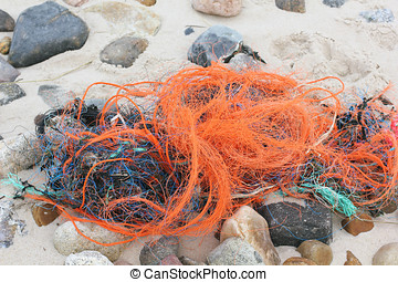 Plastic waste on the beach of Sylt - Plastic waste in the...