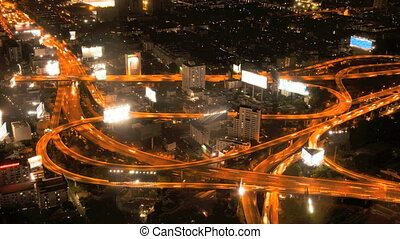 Timelapse - Highway from above