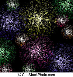 Exploding Fireworks Background As Holiday Or Independence Celebrations