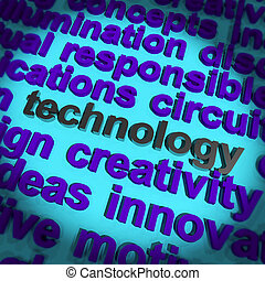 Technology Word Showing Innovation Software Improvement And...