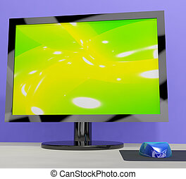 TV Monitor Representing High Definition Television Or HDTV -...
