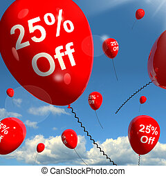 Balloon With 25% Off Showing Sale Discount Of Twenty Five...