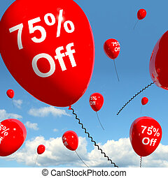 Balloon With 75% Off Showing Sale Discount Of Seventy Five Perce