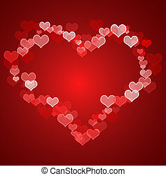 Red Hearts Background With Copy Space Shows Love Romance And Valentines