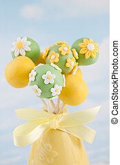 Cake pops - Mini cakes dipped in chocolate and decorated...