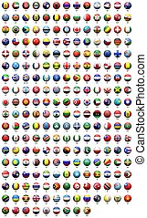 Round the flags - flags of various countries' round icon