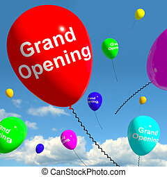 Grand Opening Balloons Showing New Store Launch - Grand...
