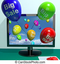 Sale Balloons Coming From Computer Shows Promotion Discount And Reductions Online