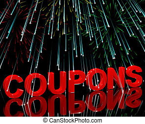 Coupons Word With Fireworks Shows Vouchers For Reductions Or...