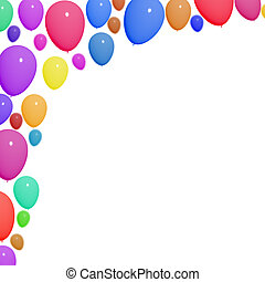 Festive Colorful Balloons For Birthday Celebrations With Blank Copy space