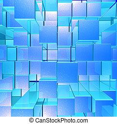 brillante, encendido, azul, opaco, metal, Plano de fondo,...