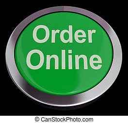 Order Online Button In Green For Buying On The Web