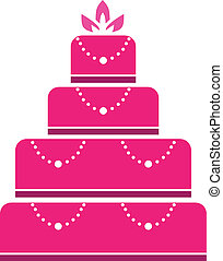Cake wedding in pink