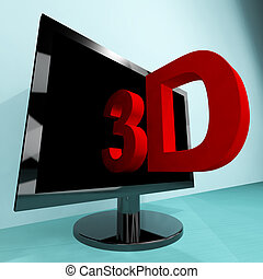Three Dimensional Television Or 3D HD TV