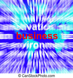 Business Word Representing Trade Partnership and Commerce