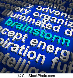 Brainstorming Word Meaning Creative Thinking And Ideas -...