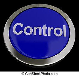 制御, 青, リモート, ボタン, スイッチ, 押し, ∥あるいは∥