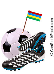 Soccer ball or football with a national flag - Pair of...