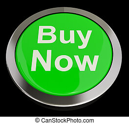 Buy Now Button In Green Showing Purchases And Online...