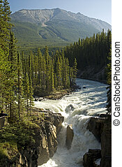 Sunwapta Falls, Rocky Mountains