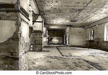 Fate - Dramatic interior of an abandoned military building...