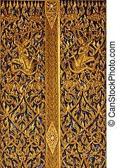 golden buddhist pattern