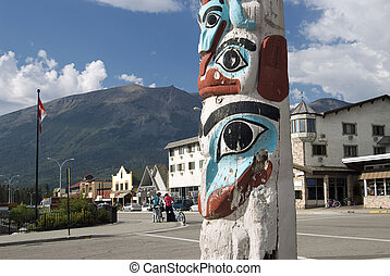 Totem Pole in Jasper, Canadian Rockies