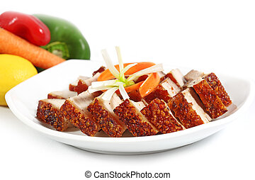 Roasted Pork - Crispy roasted pork belly Vietnamese cuisine