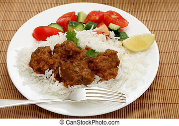 Beef madras curry - A madras butter beef curry served with...