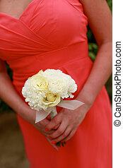 Bridesmaids bouquet - Close-up of a bridesmaid holding their...