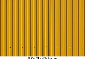 Yellow decking - A fragment of a fence with a yellow...