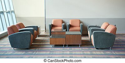 Airport Lounge Seating - An area of seating in an airport...