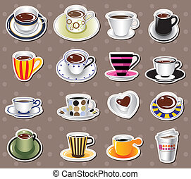 coffee stickers